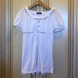white burberry blouse